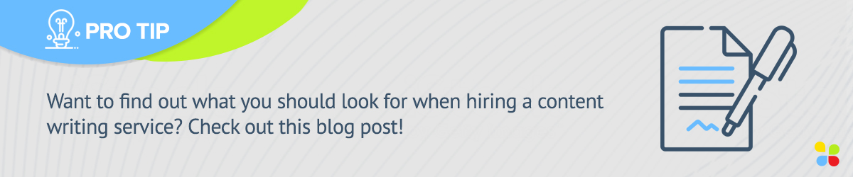 Want to find out what you should look for when hiring a content writing service?