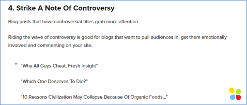 Good headings for articles