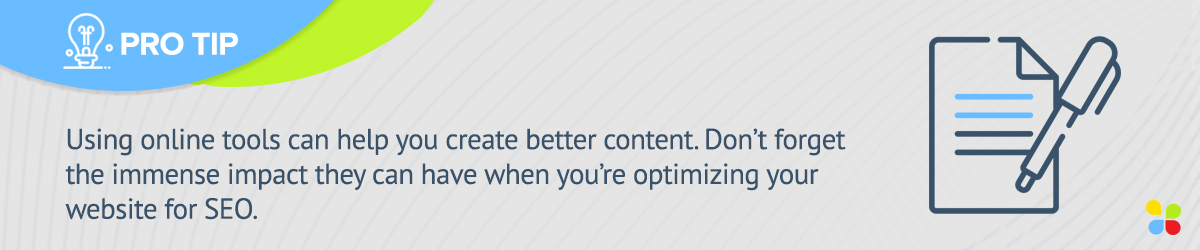 Online tools can help you create content