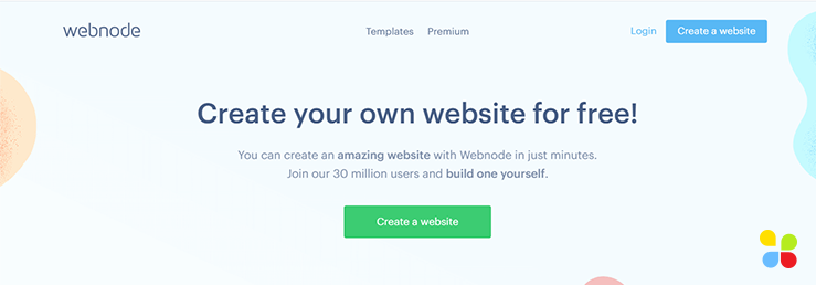 Hero of the Webnode homepage