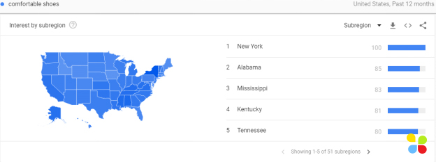 google trends geographical data example