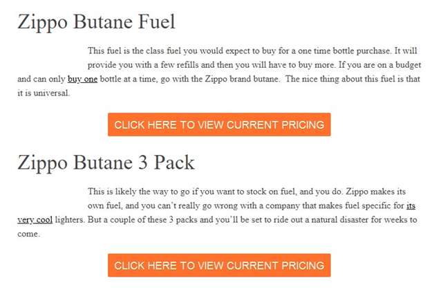 affiliate link example - banner or buttons