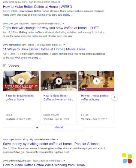 google search for affiliate article