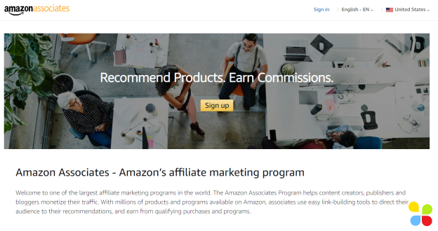 Amazon Affiliate Home Page