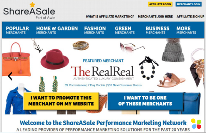 ShareASale - best affiliate program for beginners