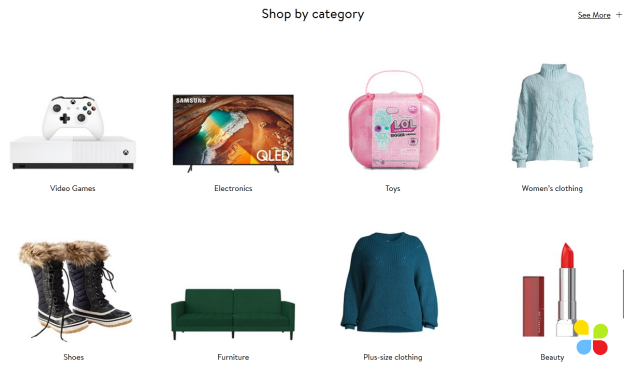 product category page – type of online content