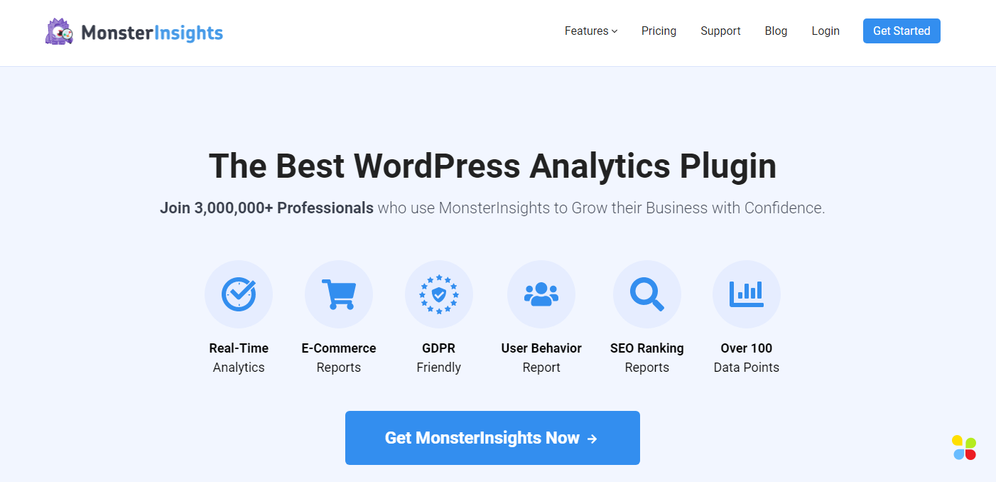 how to track blog using MonsterInsights